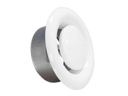 Anemostat metalowy wywiewny Ø100